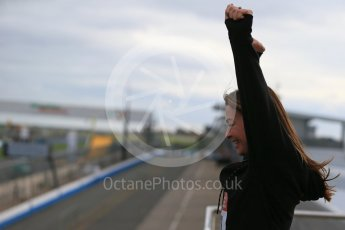 World © Octane Photographic Ltd. 5th February 2016 – Donington Park Racetrack. Suzi Perry launches the 2016 Donington Park Summer Running Festival. Digital Ref : 1500LB1D6675