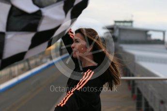World © Octane Photographic Ltd. 5th February 2016 – Donington Park Racetrack. Suzi Perry launches the 2016 Donington Park Summer Running Festival. Digital Ref : 1500LB1D6683
