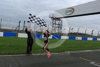World © Octane Photographic Ltd. 5th February 2016 – Donington Park Racetrack. Suzi Perry and Brendan Foster launch the 2016 Donington Park Summer Running Festival. Digital Ref : 1500LB5D6238