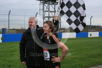 World © Octane Photographic Ltd. 5th February 2016 – Donington Park Racetrack. Suzi Perry and Brendan Foster launch the 2016 Donington Park Summer Running Festival. Digital Ref : 1500LB5D6246