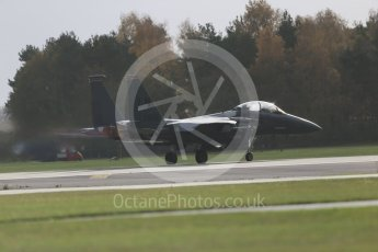"""World © Octane Photographic Ltd. RAF Lakenheath operations 16th November 2015, USAF (United States Air Force) 48th Fighter Wing """"Statue of Liberty Wing"""" 494 Fighter Squadron """"Panthers"""", McDonnell Douglas F-15E Strike Eagle. Digital Ref : 1469CB1D3507"""
