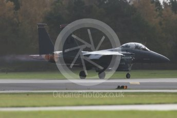 """World © Octane Photographic Ltd. RAF Lakenheath operations 16th November 2015, USAF (United States Air Force) 48th Fighter Wing """"Statue of Liberty Wing"""" 494 Fighter Squadron """"Panthers"""", McDonnell Douglas F-15E Strike Eagle. Digital Ref : 1469CB1D3586"""