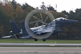 """World © Octane Photographic Ltd. RAF Lakenheath operations 16th November 2015, USAF (United States Air Force) 48th Fighter Wing """"Statue of Liberty Wing"""" 492 Fighter Squadron """"Madhatters"""", McDonnell Douglas F-15E Strike Eagle LN 91-321. Digital Ref : 1469CB1D3863"""