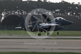 """World © Octane Photographic Ltd. RAF Lakenheath operations 16th November 2015, USAF (United States Air Force) 48th Fighter Wing """"Statue of Liberty Wing"""" 492 Fighter Squadron """"Madhatters"""", McDonnell Douglas F-15E Strike Eagle LN 91-321. Digital Ref : 1469CB1D3876"""
