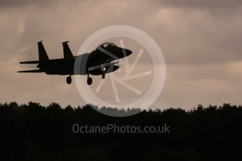 """World © Octane Photographic Ltd. RAF Lakenheath operations 16th November 2015, USAF (United States Air Force) 48th Fighter Wing """"Statue of Liberty Wing"""", McDonnell Douglas F-15E Strike Eagle. Digital Ref : 1469CB1D3901"""