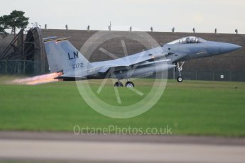 """World © Octane Photographic Ltd. RAF Lakenheath operations 16th November 2015, USAF (United States Air Force) 48th Fighter Wing """"Statue of Liberty Wing"""" 493 Fighter Squadron """"The Grim Reapers"""", McDonnell Douglas F-15C Eagle LN 86-172. Digital Ref : 1469CB1D4162"""