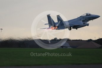 """World © Octane Photographic Ltd. RAF Lakenheath operations 16th November 2015, USAF (United States Air Force) 48th Fighter Wing """"Statue of Liberty Wing"""" 493 Fighter Squadron """"The Grim Reapers"""", McDonnell Douglas F-15C Eagle LN 86-172. Digital Ref : 1469CB1D4174"""