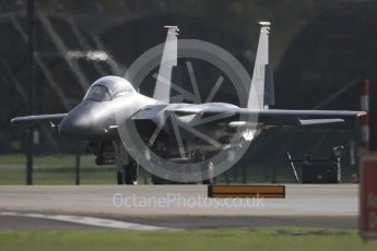 """World © Octane Photographic Ltd. RAF Lakenheath operations 16th November 2015, USAF (United States Air Force) 48th Fighter Wing """"Statue of Liberty Wing"""" 494 Fighter Squadron """"Panthers"""", McDonnell Douglas F-15E Strike Eagle LN 98-132. Digital Ref : 1469CB7D0319"""