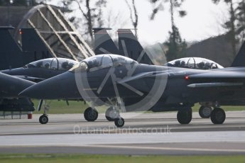 """World © Octane Photographic Ltd. RAF Lakenheath operations 16th November 2015, USAF (United States Air Force) 48th Fighter Wing """"Statue of Liberty Wing"""" 494 Fighter Squadron """"Panthers"""", McDonnell Douglas F-15E Strike Eagle. Digital Ref : 1469CB7D0350"""