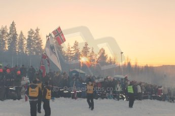 © North One Sport Limited 2011/Octane Photographic Ltd. 2011 WRC Sweden SS15 Varmulssen, Saturday 12th February 2011. The huge crowd at dusk. Digital ref : 0157LW7D9264