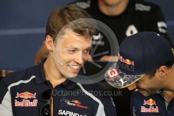 World © Octane Photographic Ltd. F1 Austrian GP FIA Drivers' Press Conference, Red Bull Ring, Spielberg, Austria. Thursday 30th June 2016. Scuderia Toro Rosso – Daniil Kvyat and Red Bull Racing – Daniel Ricciardo. Digital Ref :1596LB1D4957