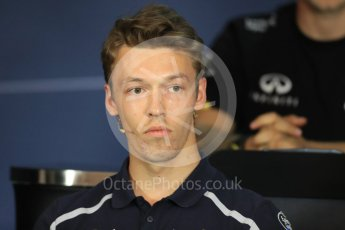 World © Octane Photographic Ltd. F1 Austrian GP FIA Drivers' Press Conference, Red Bull Ring, Spielberg, Austria. Thursday 30th June 2016. Scuderia Toro Rosso – Daniil Kvyat. Digital Ref :1596LB1D4980