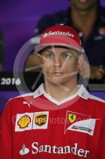 World © Octane Photographic Ltd. F1 Austrian GP FIA Drivers' Press Conference, Red Bull Ring, Spielberg, Austria. Thursday 30th June 2016. Scuderia Ferrari – Kimi Raikkonen. Digital Ref :1596LB1D5017
