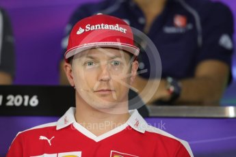 World © Octane Photographic Ltd. F1 Austrian GP FIA Drivers' Press Conference, Red Bull Ring, Spielberg, Austria. Thursday 30th June 2016. Scuderia Ferrari – Kimi Raikkonen. Digital Ref :1596LB1D5062