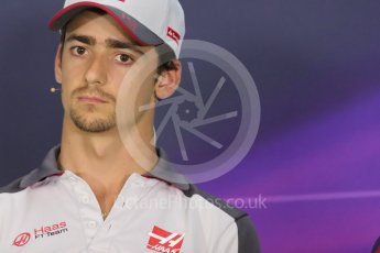 World © Octane Photographic Ltd. F1 Austrian GP FIA Drivers' Press Conference, Red Bull Ring, Spielberg, Austria. Thursday 30th June 2016. Haas F1 Team - Esteban Gutierrez. Digital Ref :1596LB1D5196