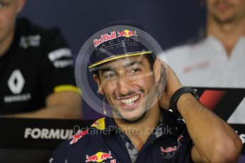 World © Octane Photographic Ltd. F1 Austrian GP FIA Drivers' Press Conference, Red Bull Ring, Spielberg, Austria. Thursday 30th June 2016. Red Bull Racing – Daniel Ricciardo . Digital Ref :1596LB1D5298