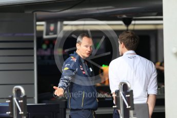 World © Octane Photographic Ltd. Red Bull Racing. Thursday 30th June 2016, F1 Austrian GP Pit Lane, Red Bull Ring, Spielberg, Austria. Digital Ref : 1594CB1D1414