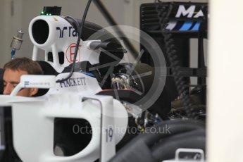 World © Octane Photographic Ltd. Williams Martini Racing, Williams Mercedes FW38. Thursday 30th June 2016, F1 Austrian GP Pit Lane, Red Bull Ring, Spielberg, Austria. Digital Ref : 1594CB1D1423