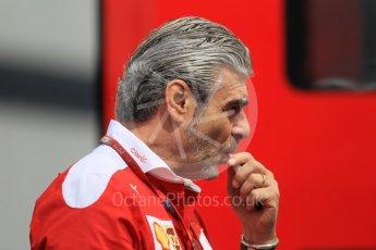 World © Octane Photographic Ltd. Scuderia Ferrari Team Boss - Maurizio Arrivabene. Thursday 30th June 2016, F1 Austrian GP Paddock, Red Bull Ring, Spielberg, Austria. Digital Ref : 1594CB1D1604