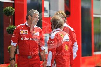 World © Octane Photographic Ltd. Scuderia Ferrari Team Boss - Maurizio Arrivabene. Thursday 30th June 2016, F1 Austrian GP Paddock, Red Bull Ring, Spielberg, Austria. Digital Ref : 1594CB1D1640