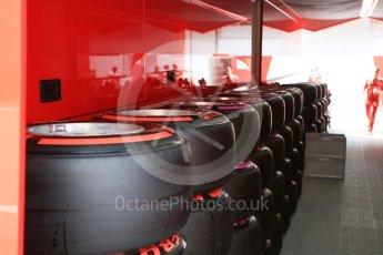 World © Octane Photographic Ltd. Scuderia Ferrari preparing tyres. Thursday 30th June 2016, F1 Austrian GP Paddock, Red Bull Ring, Spielberg, Austria. Digital Ref : 1594CB5D2379