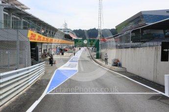 World © Octane Photographic Ltd. Pit Lane exit. Thursday 30th June 2016, F1 Austrian GP Pit Lane, Red Bull Ring, Spielberg, Austria. Digital Ref : 1594CB5D2390