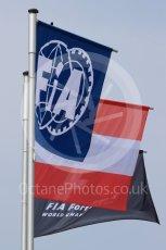 World © Octane Photographic Ltd. FIA Formula 1 flag with the Austrian flag. Thursday 30th June 2016, F1 Austrian GP Pit Lane, Red Bull Ring, Spielberg, Austria. Digital Ref : 1594LB1D0219