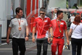 World © Octane Photographic Ltd. Charles Leclerc - Scuderia Ferrari academy. Thursday 30th June 2016, F1 Austrian GP Paddock, Red Bull Ring, Spielberg, Austria. Digital Ref : 1594LB1D0250