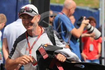 World © Octane Photographic Ltd. Haas F1 Team. Thursday 30th June 2016, F1 Austrian GP Paddock, Red Bull Ring, Spielberg, Austria. Digital Ref : 1594LB1D0263