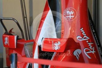 World © Octane Photographic Ltd. Scuderia Ferrari SF16-H – Bodywork with turning vanes. Thursday 24th November 2016, F1 Abu Dhabi GP - Pitlane, Yas Marina circuit, Abu Dhabi. Digital Ref :