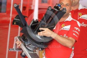 World © Octane Photographic Ltd. Scuderia Ferrari SF16-H – Rear suspension. Thursday 24th November 2016, F1 Abu Dhabi GP - Pitlane, Yas Marina circuit, Abu Dhabi. Digital Ref :
