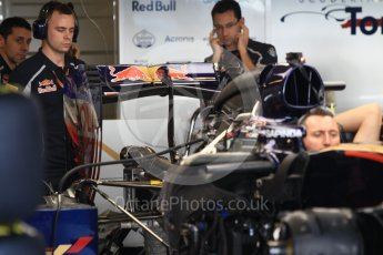 World © Octane Photographic Ltd. Scuderia Toro Rosso STR11 – rear wing. Thursday 24th November 2016, F1 Abu Dhabi GP - Pitlane, Yas Marina circuit, Abu Dhabi. Digital Ref :