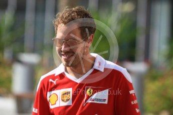 World © Octane Photographic Ltd. Scuderia Ferrari SF16-H – Sebastian Vettel. Thursday 24th November 2016, F1 Abu Dhabi GP - Paddock, Yas Marina circuit, Abu Dhabi. Digital Ref :