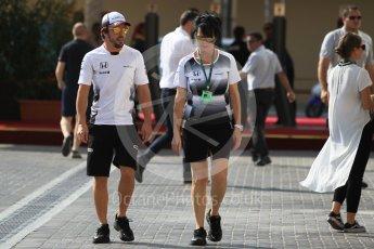 World © Octane Photographic Ltd. McLaren Honda MP4-31 – Fernando Alonso. Thursday 24th November 2016, F1 Abu Dhabi GP - Paddock, Yas Marina circuit, Abu Dhabi. Digital Ref :