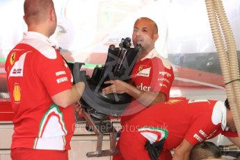 World © Octane Photographic Ltd. Scuderia Ferrari SF16-H - rear suspension. Thursday 24th November 2016, F1 Abu Dhabi GP - Pitlane, Yas Marina circuit, Abu Dhabi. Digital Ref :