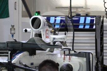 World © Octane Photographic Ltd. Williams Martini Racing, Williams Mercedes FW38 – Rear wing. Thursday 24th November 2016, F1 Abu Dhabi GP - Pitlane, Yas Marina circuit, Abu Dhabi. Digital Ref :