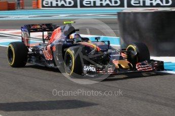 World © Octane Photographic Ltd. Scuderia Toro Rosso STR11 – Carlos Sainz. Friday 25th November 2016, F1 Abu Dhabi GP - Practice 1, Yas Marina circuit, Abu Dhabi. Digital Ref :