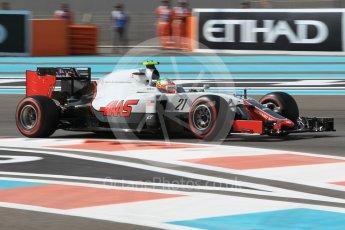 World © Octane Photographic Ltd. Haas F1 Team VF-16 - Esteban Gutierrez. Friday 25th November 2016, F1 Abu Dhabi GP - Practice 1, Yas Marina circuit, Abu Dhabi. Digital Ref :