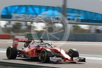 World © Octane Photographic Ltd. Scuderia Ferrari SF16-H – Sebastian Vettel. Friday 25th November 2016, F1 Abu Dhabi GP - Practice 1, Yas Marina circuit, Abu Dhabi. Digital Ref :