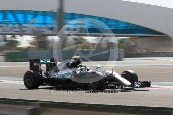 World © Octane Photographic Ltd. Mercedes AMG Petronas W07 Hybrid – Nico Rosberg. Friday 25th November 2016, F1 Abu Dhabi GP - Practice 1. Yas Marina circuit, Abu Dhabi. Digital Ref :