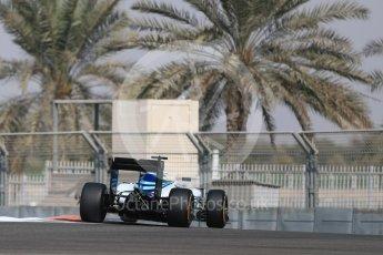 World © Octane Photographic Ltd. Williams Martini Racing, Williams Mercedes FW38 – Felipe Massa. Friday 25th November 2016, F1 Abu Dhabi GP - Practice 1, Yas Marina circuit, Abu Dhabi. Digital Ref : 1756LB1D7727