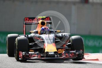 World © Octane Photographic Ltd. Red Bull Racing RB12 – Max Verstappen. Friday 25th November 2016, F1 Abu Dhabi GP - Practice 1, Yas Marina circuit, Abu Dhabi. Digital Ref : 1756LB1D7911