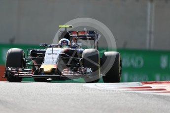 World © Octane Photographic Ltd. Scuderia Toro Rosso STR11 – Carlos Sainz. Friday 25th November 2016, F1 Abu Dhabi GP - Practice 1, Yas Marina circuit, Abu Dhabi. Digital Ref : 1756LB1D7975