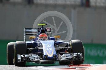 World © Octane Photographic Ltd. Sauber F1 Team C35 – Felipe Nasr. Friday 25th November 2016, F1 Abu Dhabi GP - Practice 1, Yas Marina circuit, Abu Dhabi. Digital Ref : 1756LB1D8069