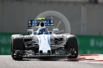 World © Octane Photographic Ltd. Williams Martini Racing, Williams Mercedes FW38 – Valtteri Bottas. Friday 25th November 2016, F1 Abu Dhabi GP - Practice 1, Yas Marina circuit, Abu Dhabi. Digital Ref : 1756LB1D8132