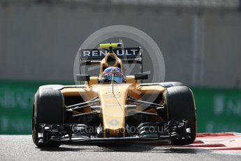 World © Octane Photographic Ltd. Renault Sport F1 Team RS16 – Jolyon Palmer. Friday 25th November 2016, F1 Abu Dhabi GP - Practice 1, Yas Marina circuit, Abu Dhabi. Digital Ref : 1756LB1D8206