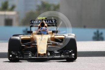 World © Octane Photographic Ltd. Renault Sport F1 Team RS16 – Jolyon Palmer. Friday 25th November 2016, F1 Abu Dhabi GP - Practice 1, Yas Marina circuit, Abu Dhabi. Digital Ref : 1756LB1D8274