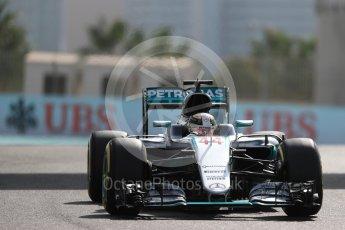 World © Octane Photographic Ltd. Mercedes AMG Petronas W07 Hybrid – Lewis Hamilton. Friday 25th November 2016, F1 Abu Dhabi GP - Practice 1. Yas Marina circuit, Abu Dhabi. Digital Ref : 1756LB1D8346