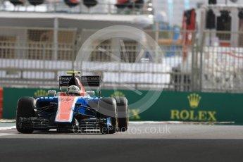 World © Octane Photographic Ltd. Manor Racing MRT05 Development Driver – Jordan King. Friday 25th November 2016, F1 Abu Dhabi GP - Practice 1, Yas Marina circuit, Abu Dhabi. Digital Ref : 1756LB1D8463