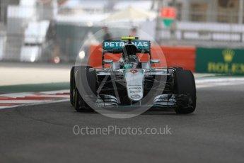 World © Octane Photographic Ltd. Mercedes AMG Petronas W07 Hybrid – Nico Rosberg. Friday 25th November 2016, F1 Abu Dhabi GP - Practice 1. Yas Marina circuit, Abu Dhabi. Digital Ref : 1756LB1D8489